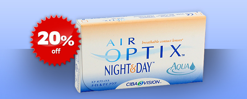 20% off on Air Optix Night &amp; Day