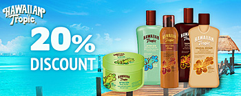Hawaiian Tropic - 20% discount!