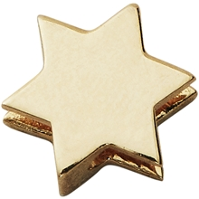 Design Letters Star Charm Gold